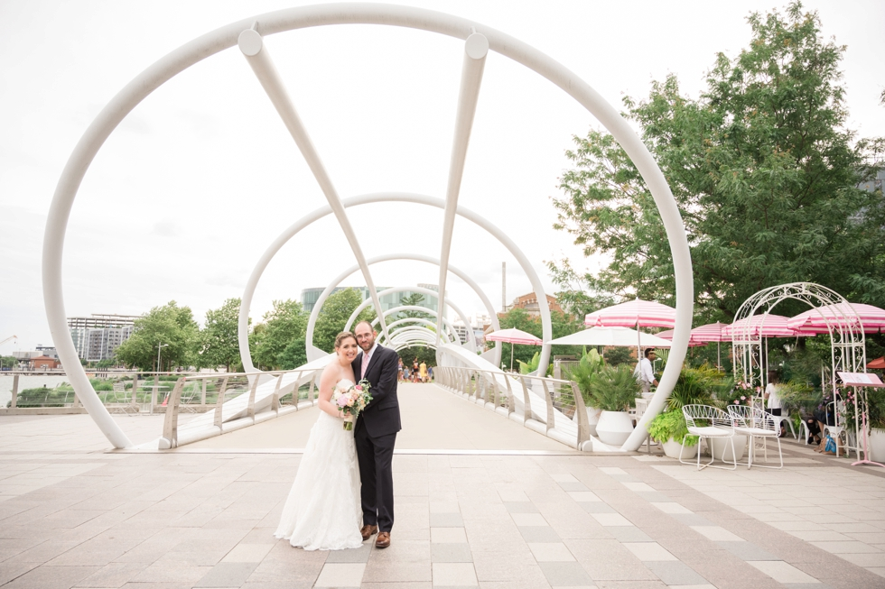 The Yards Park District Winery wedding couple