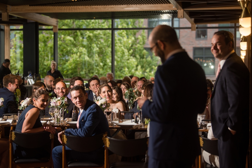 District Winery wedding toasts