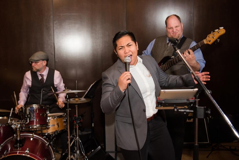 The bachelor boys band wedding reception