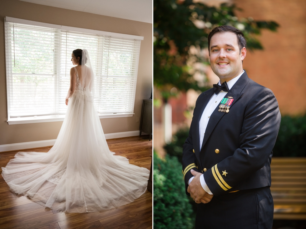 Annapolis waterfront Hotel wedding prep