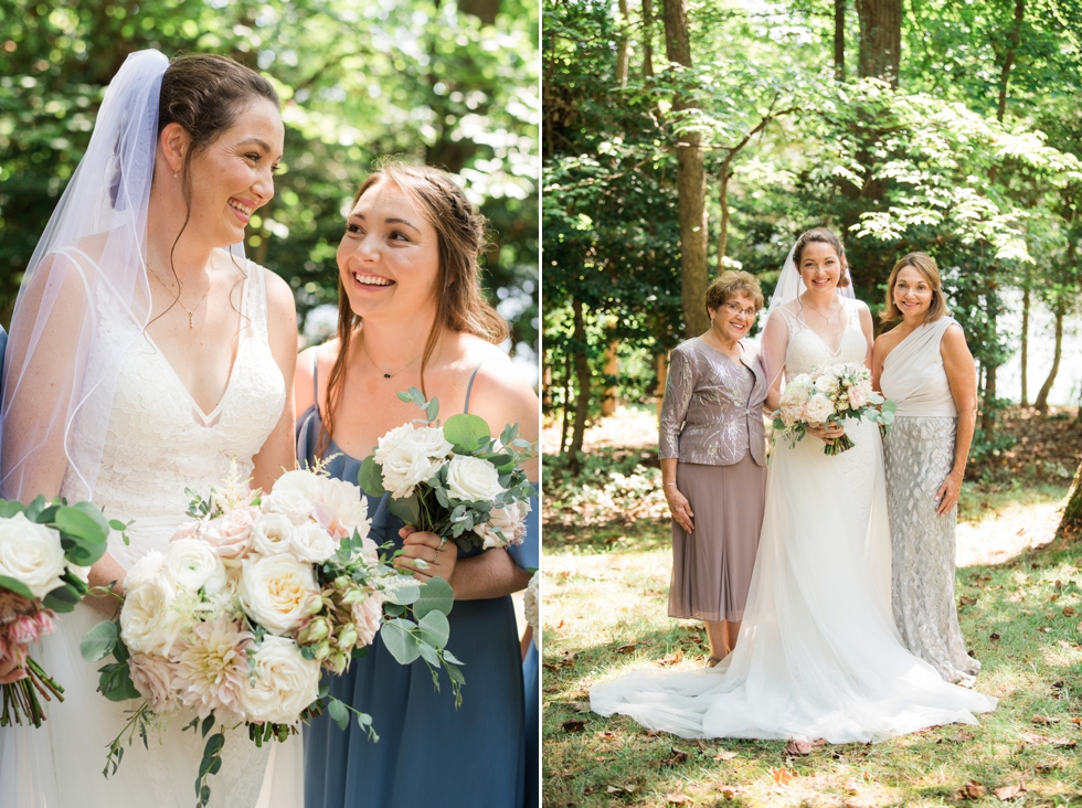 floret + vine Essense of Australia wedding dress bridesmaids in blue
