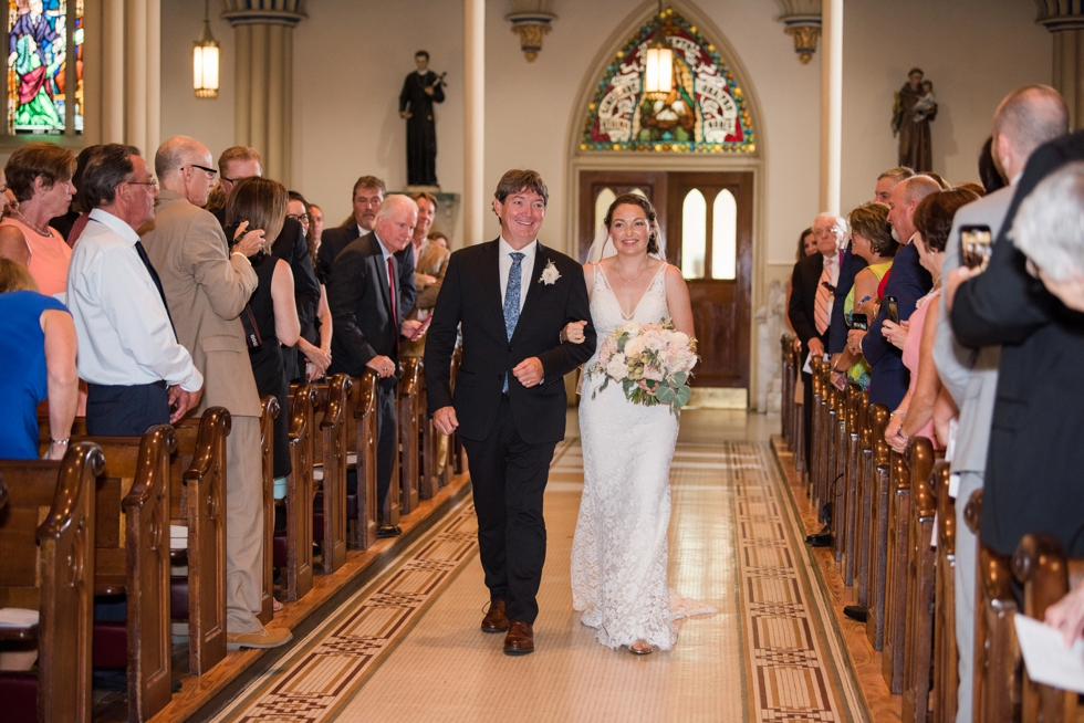 St Marys Annapolis wedding ceremony