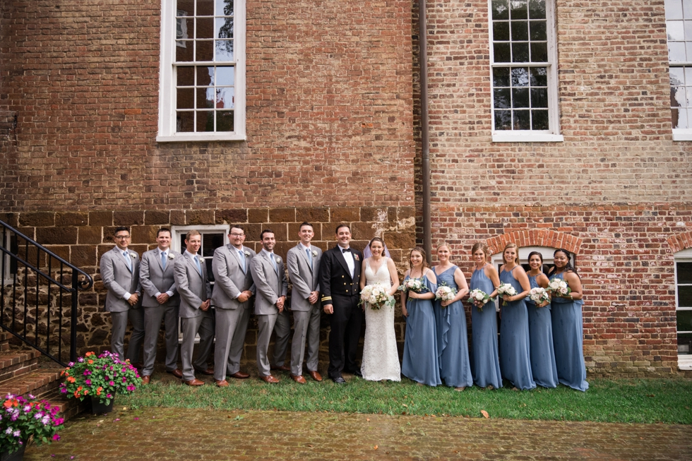 Carroll House wedding party photo