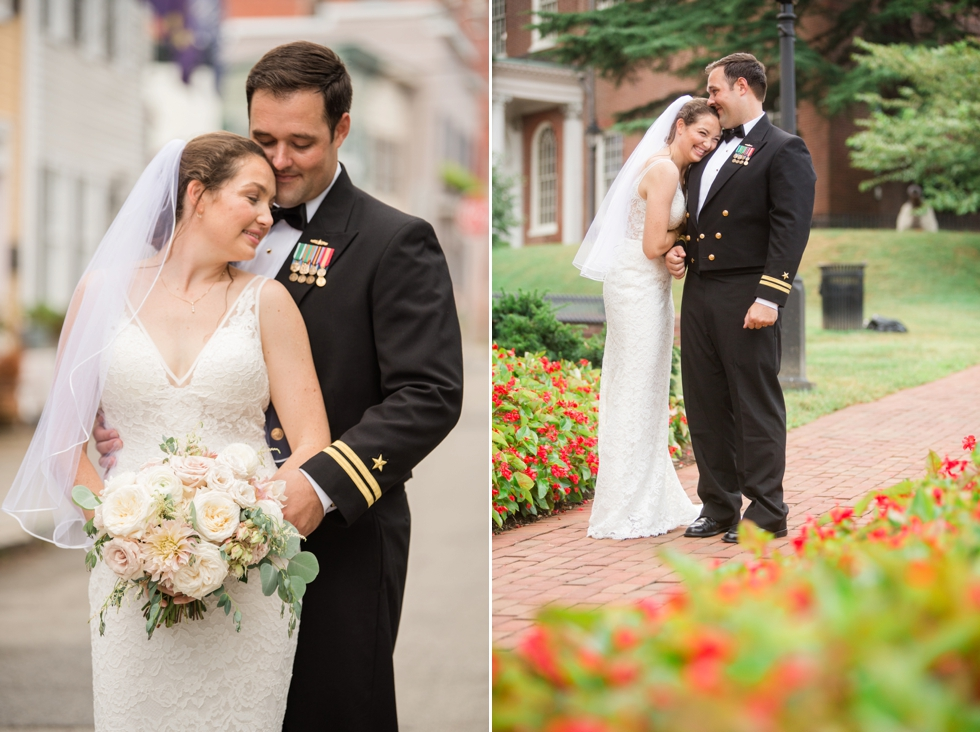 Downtown Annapolis East street wedding photo