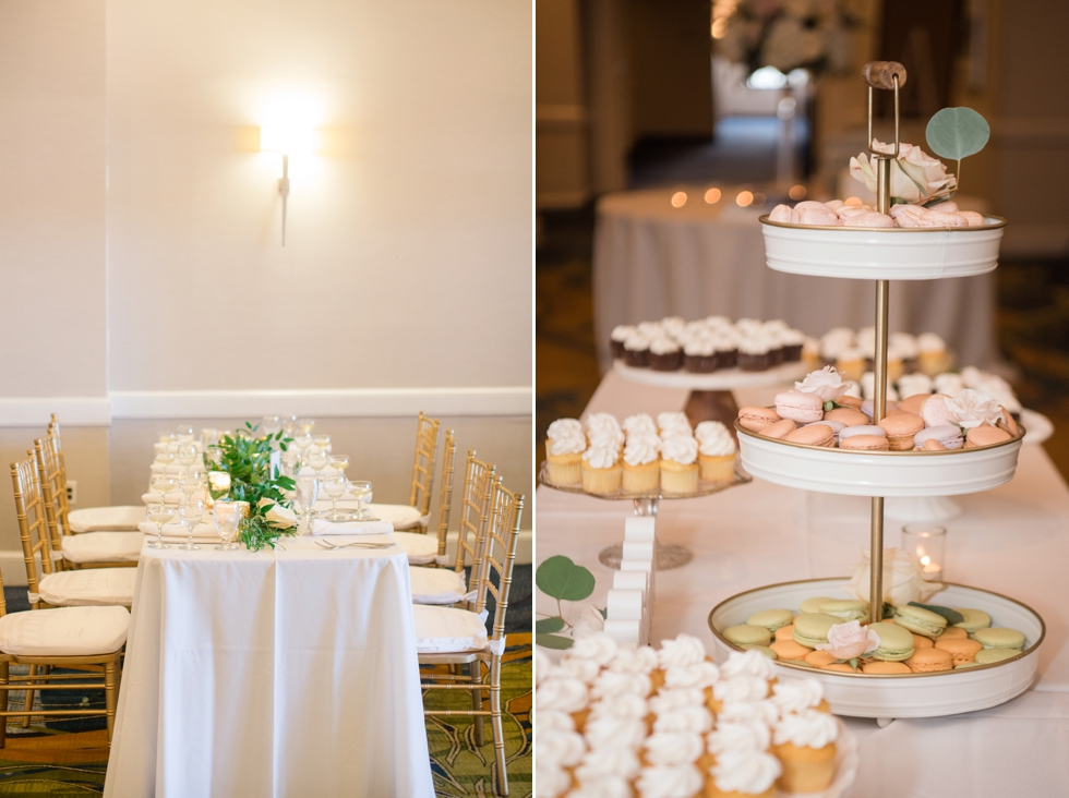 Floret + vine sweet hearts patisserie Annapolis wedding