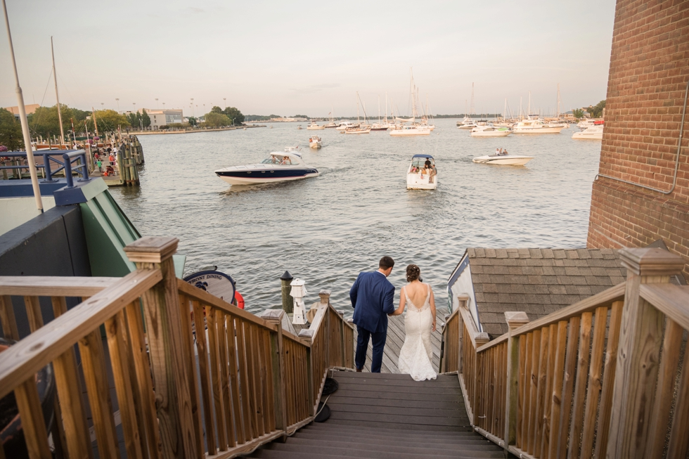 Annapolis waterfront hotel wedding couple photos