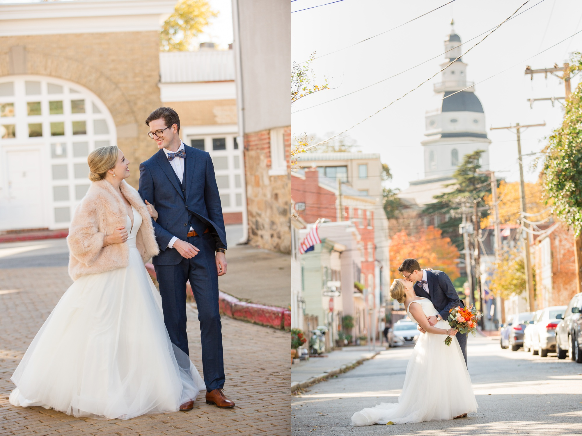 State House Annapolis wedding photographer
