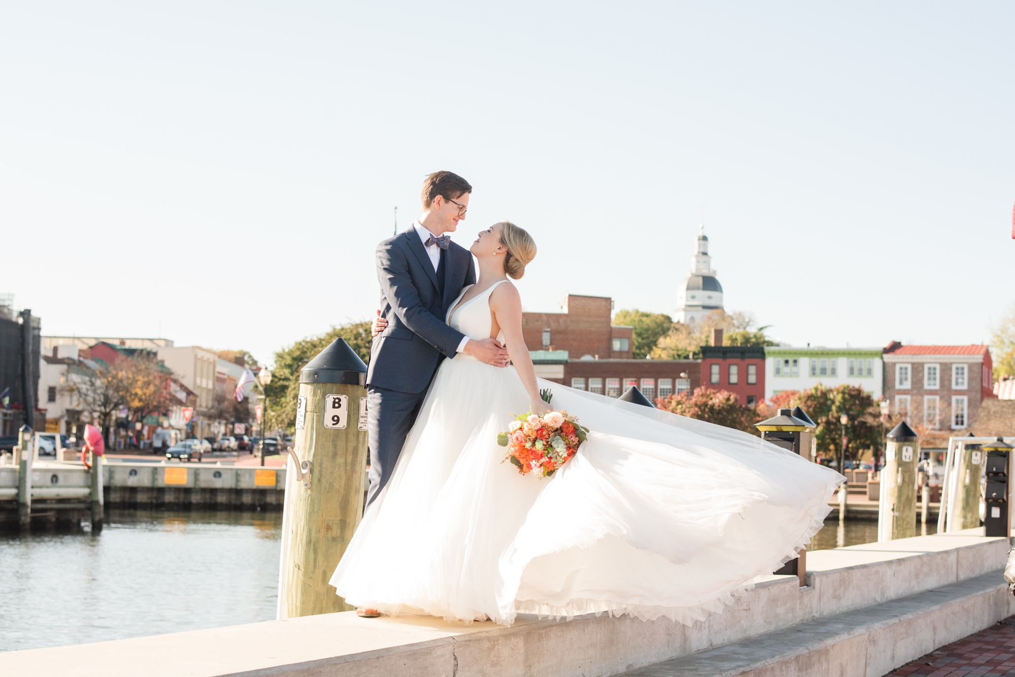 Annapolis waterfront wedding photo