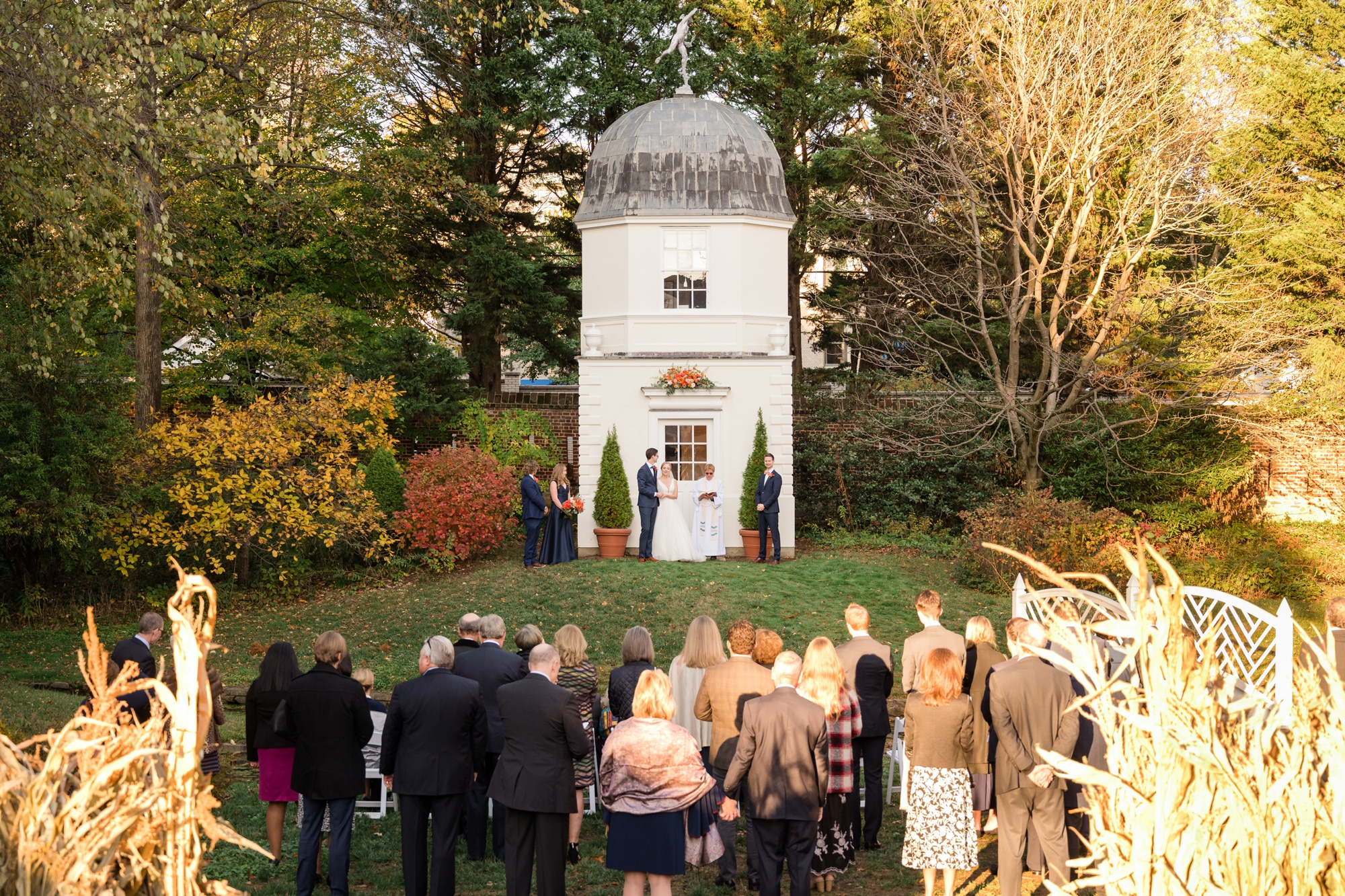 Paca House Garden outdoor ceremony