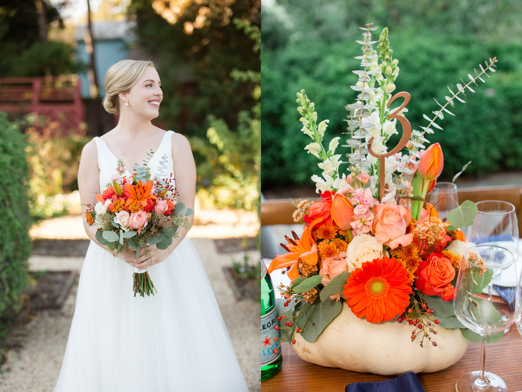 William Paca House fall wedding flowers