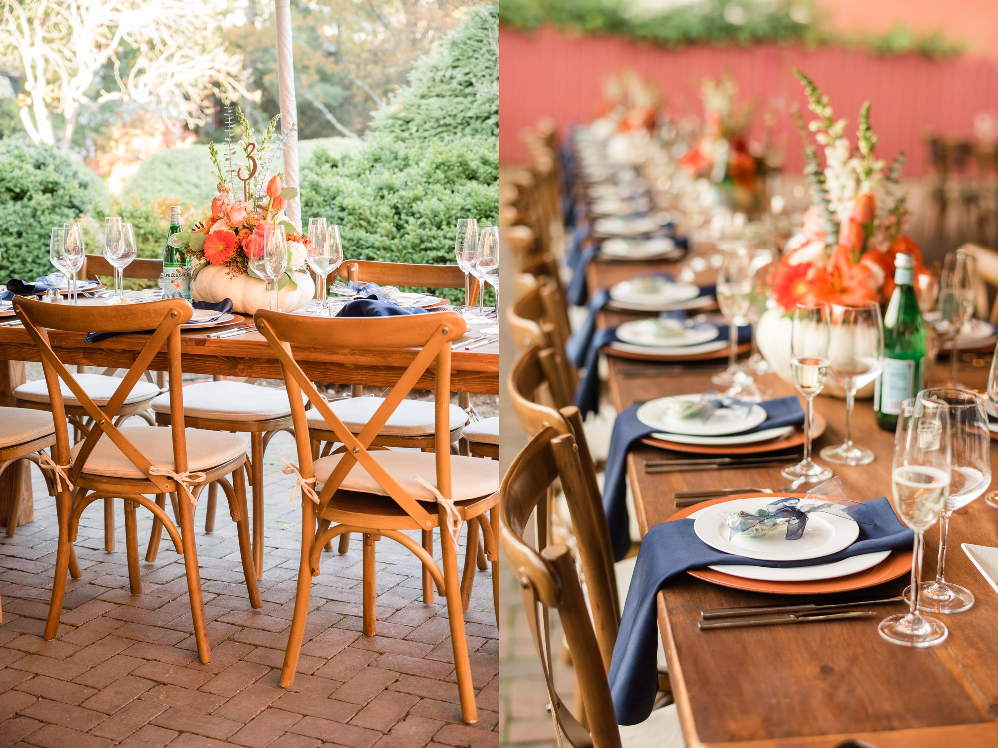 Honeywood rentals fall wood wedding decor