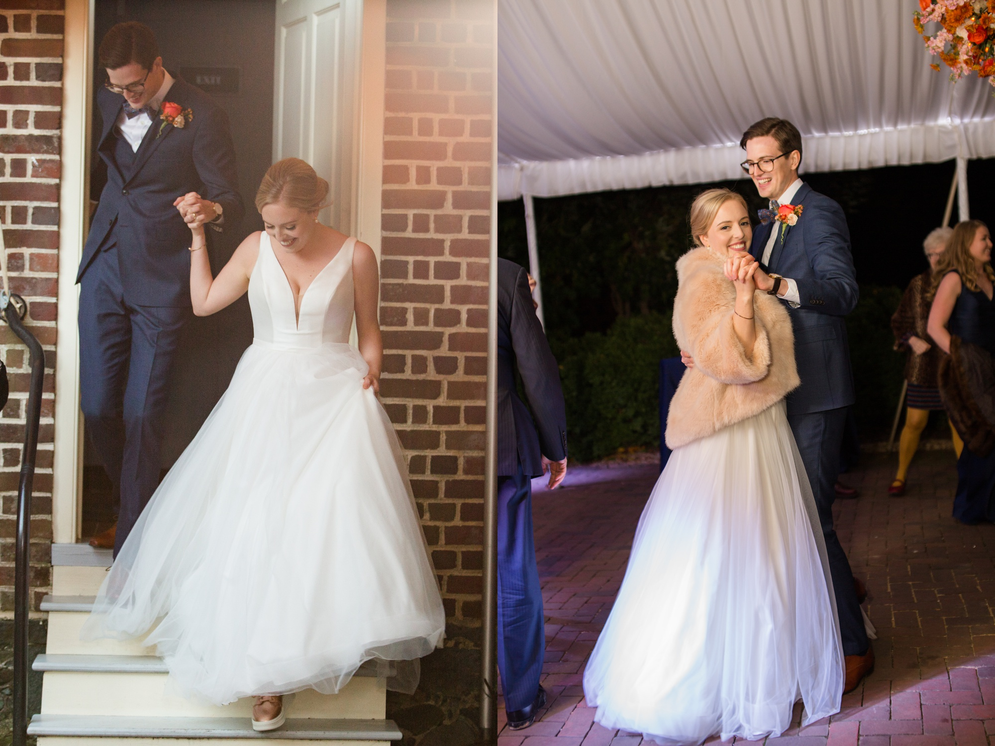 Bride and groom first dance at Paca House