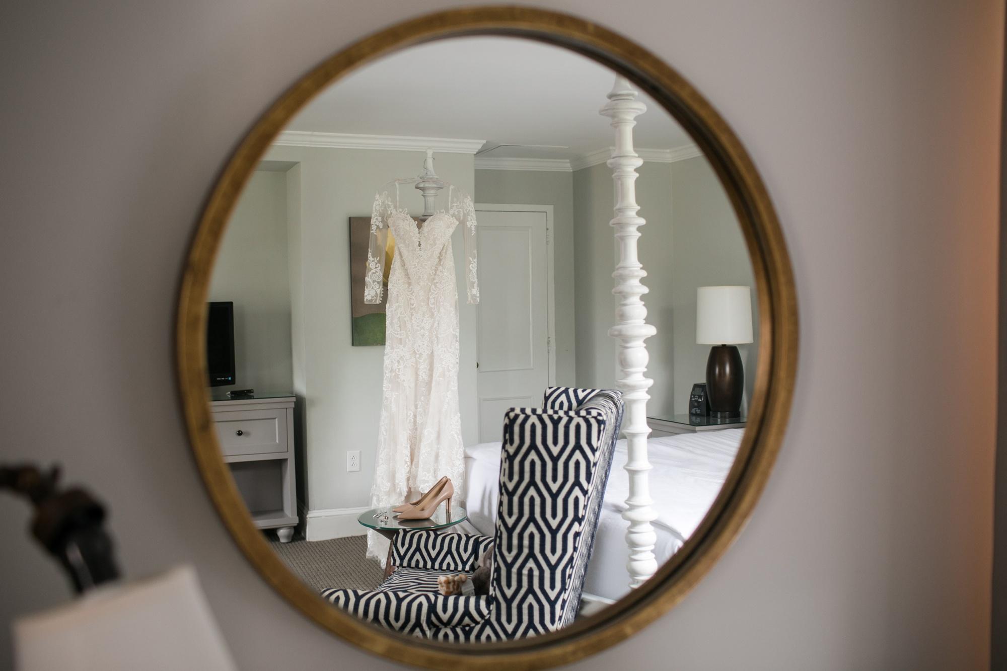The Tidewater Inn Wedding dress details