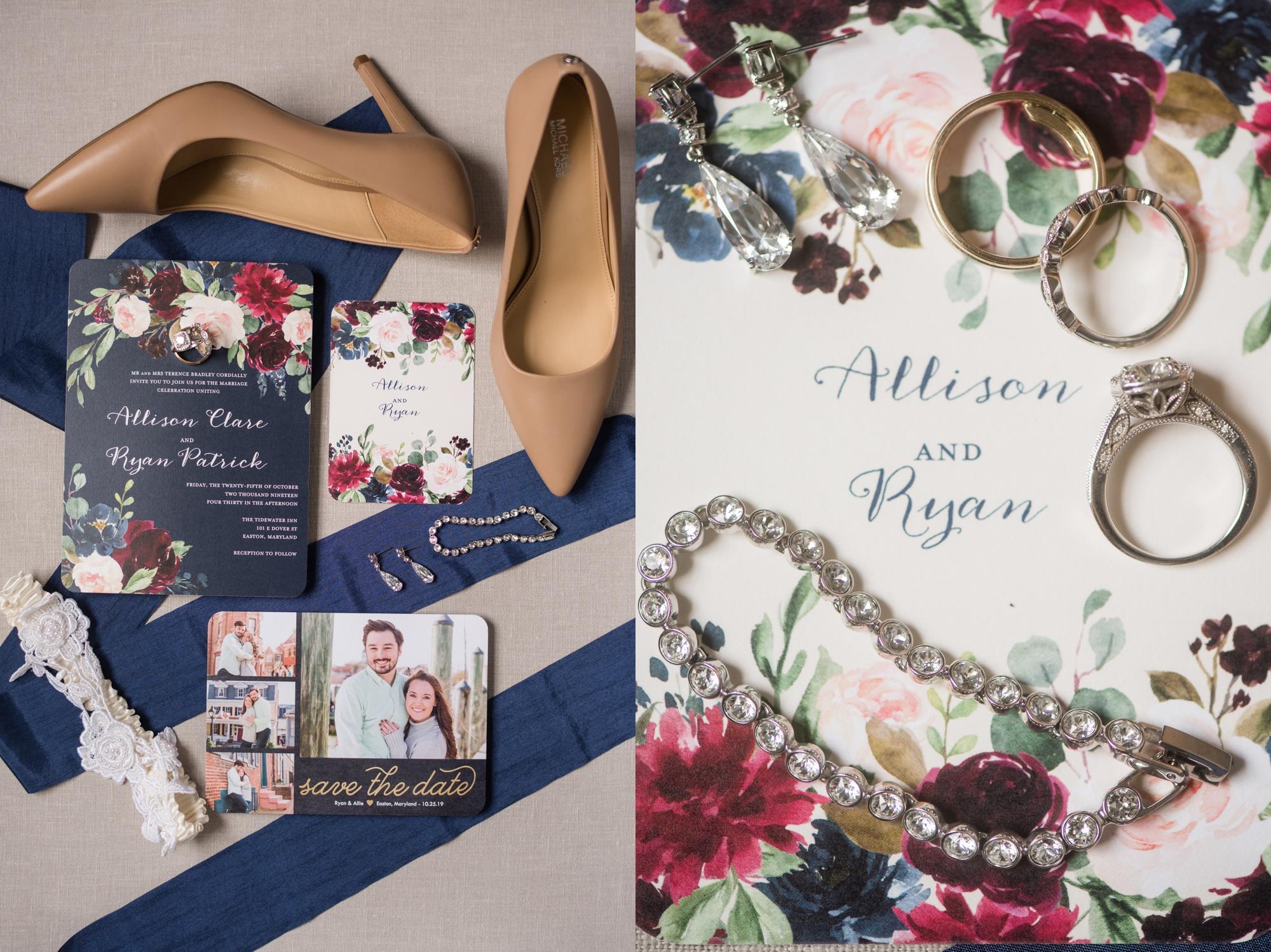 Autumn Tidewater Inn Wedding invitations
