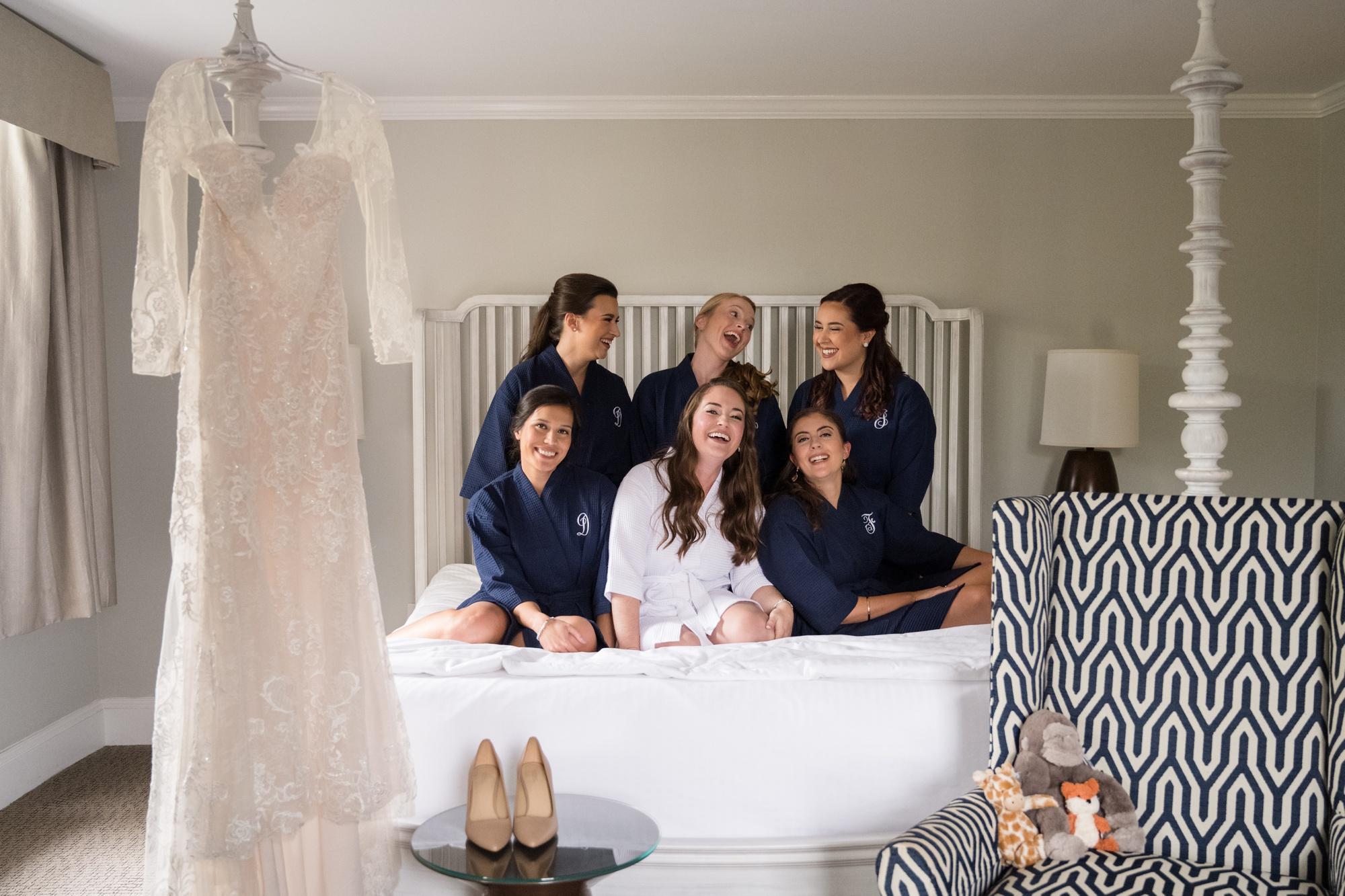 The Tidewater Inn bride getting ready