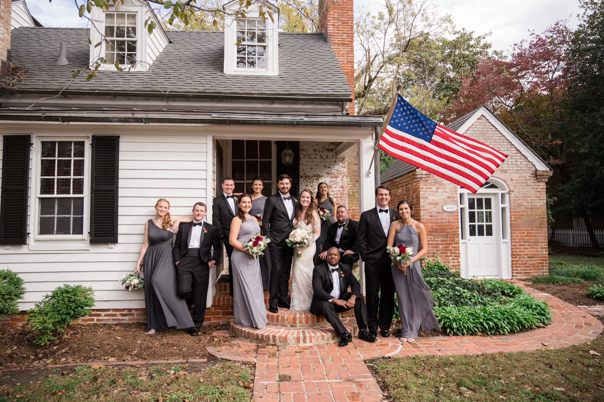 Easton maryland Bullet House wedding party