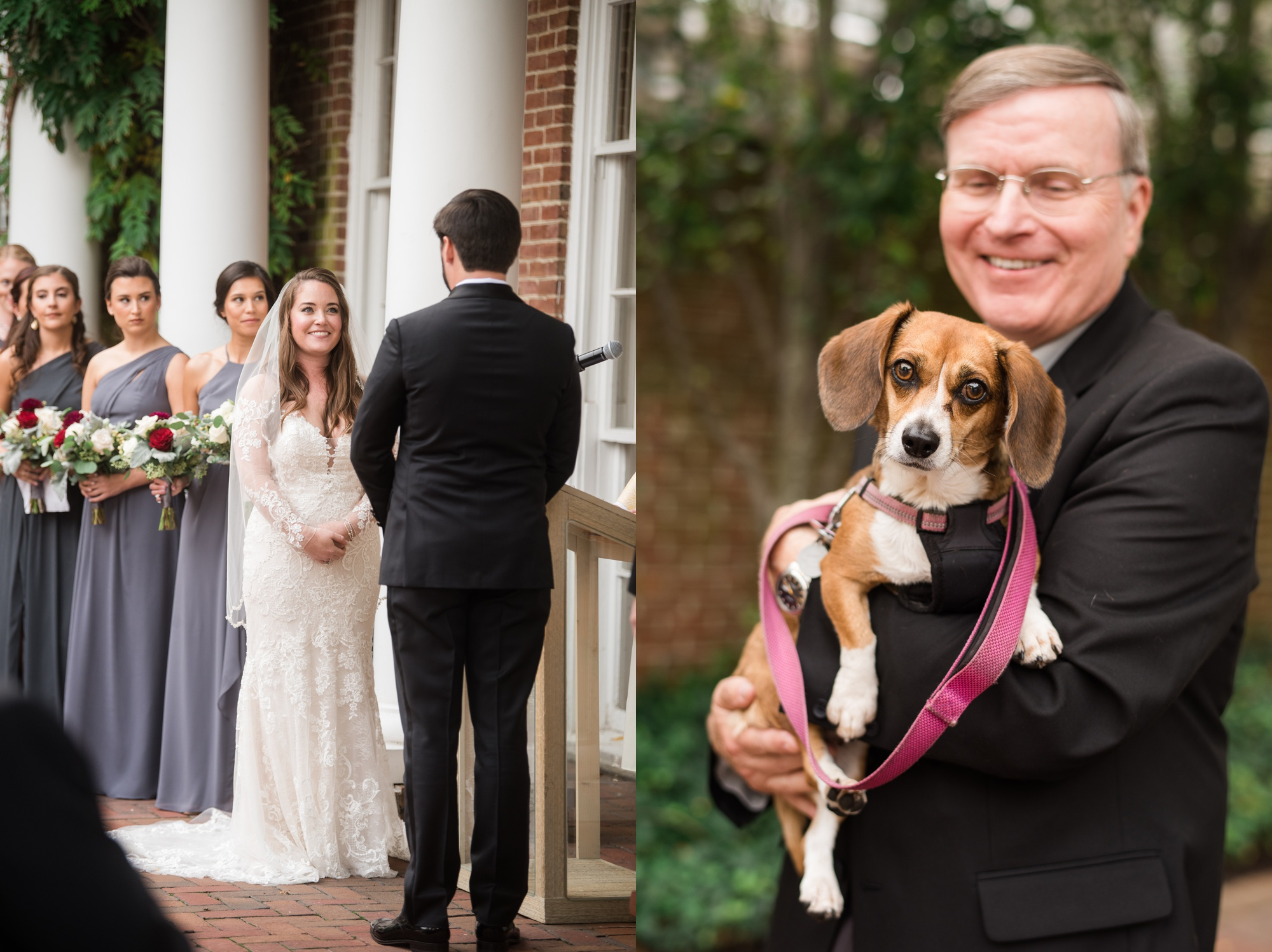 Dog Friendly The Tidewater Inn outdoor wedding ceremony