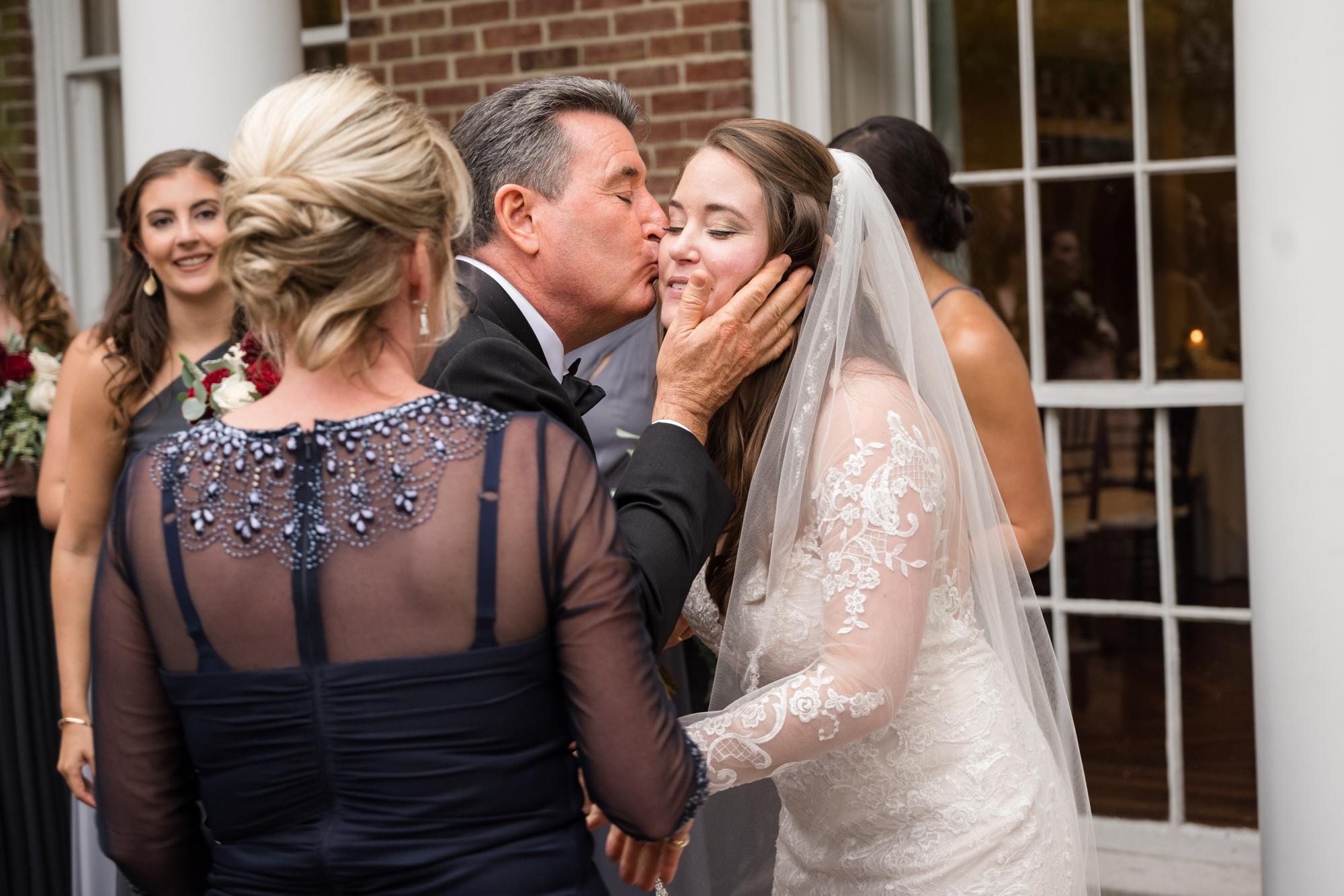 family hugging wedding easton maryland