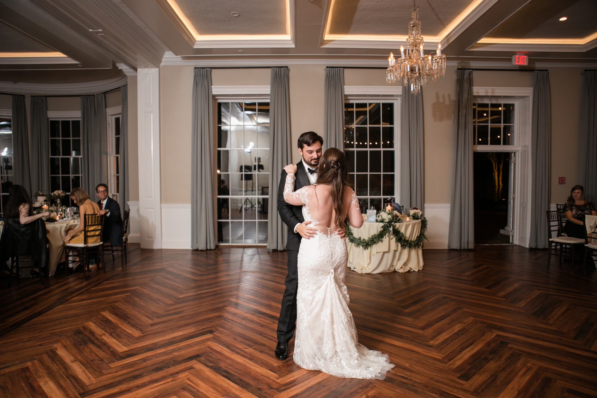 The Tidewater Inn first dance in crystal ballroom
