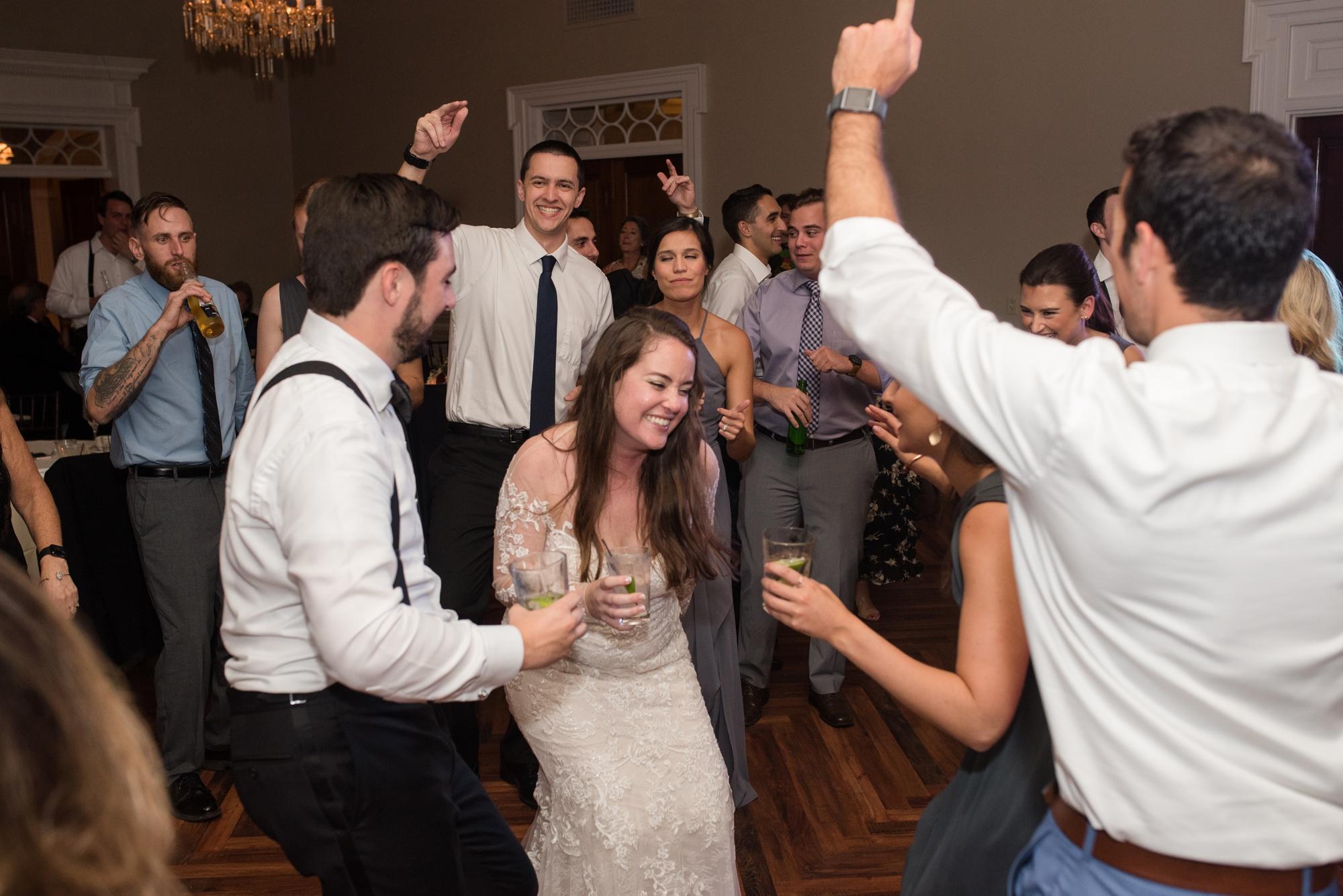 Tidewater Inn wedding reception dancing