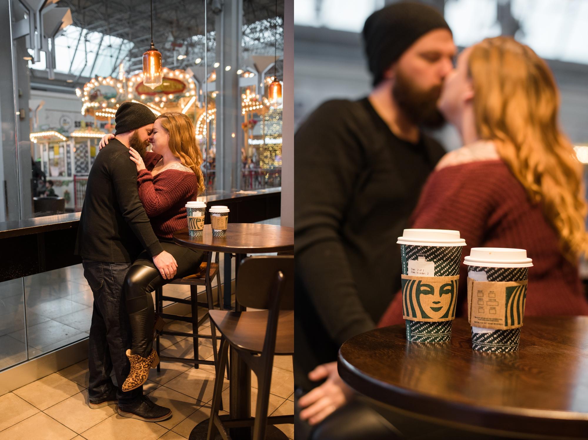 One year anniversary session at Starbucks