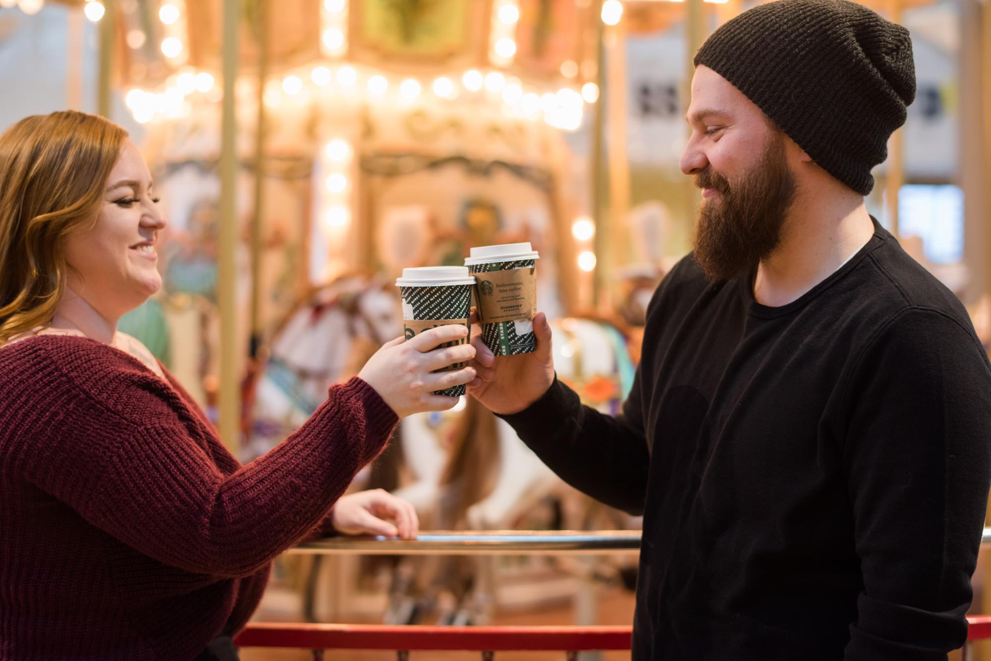 Starbucks first date to wedding