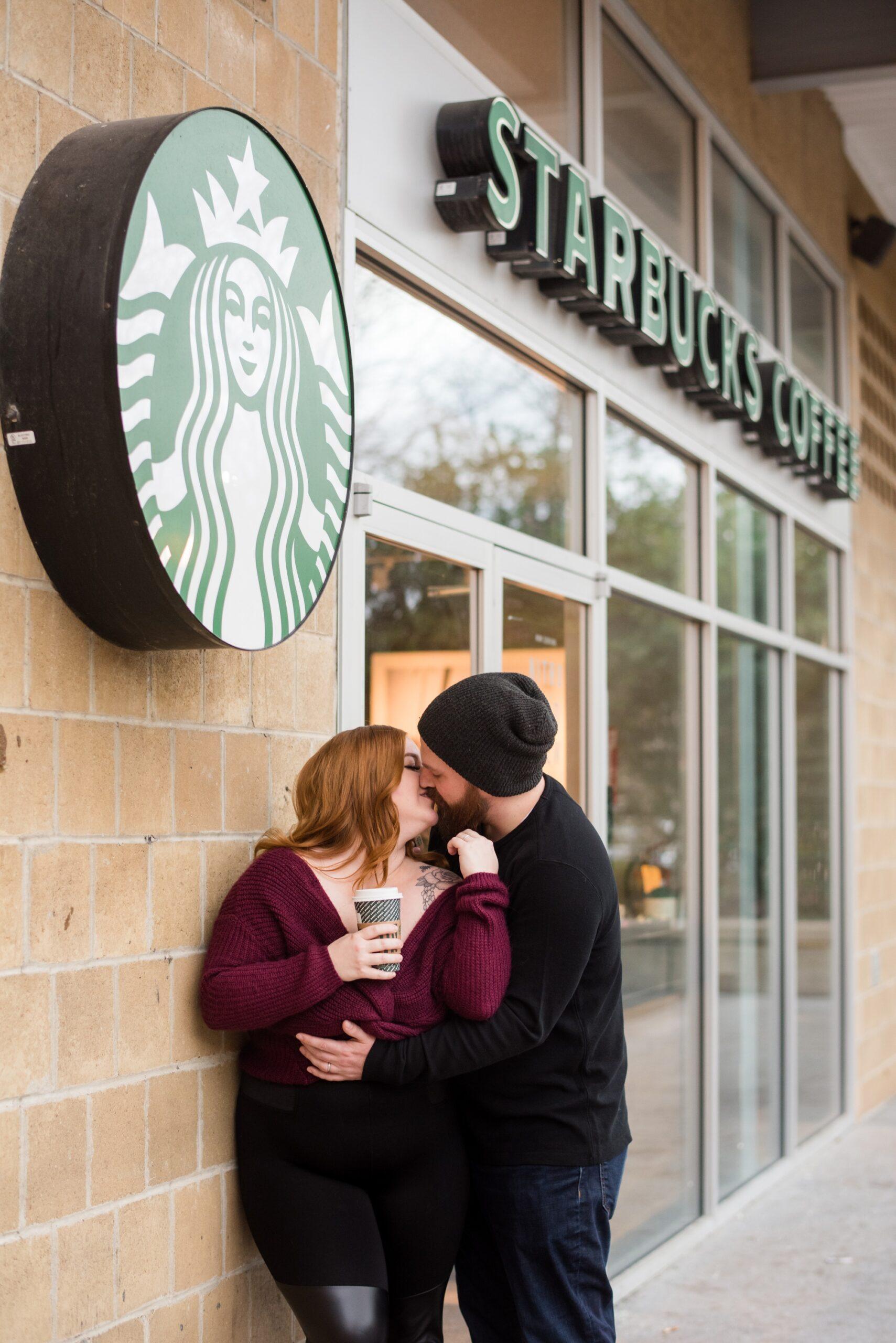 First Starbucks date to one year anniversary photos