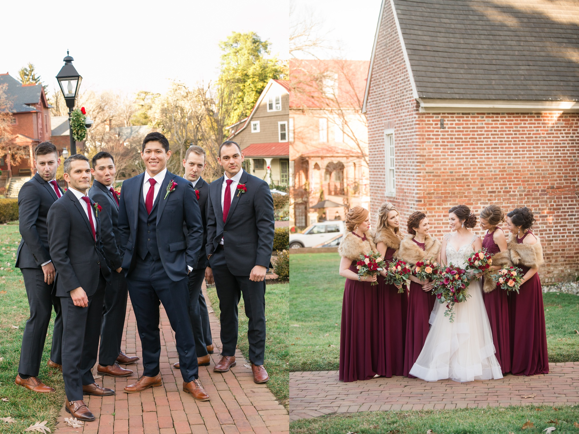 Historic Inns Governor Calvert House Wedding party