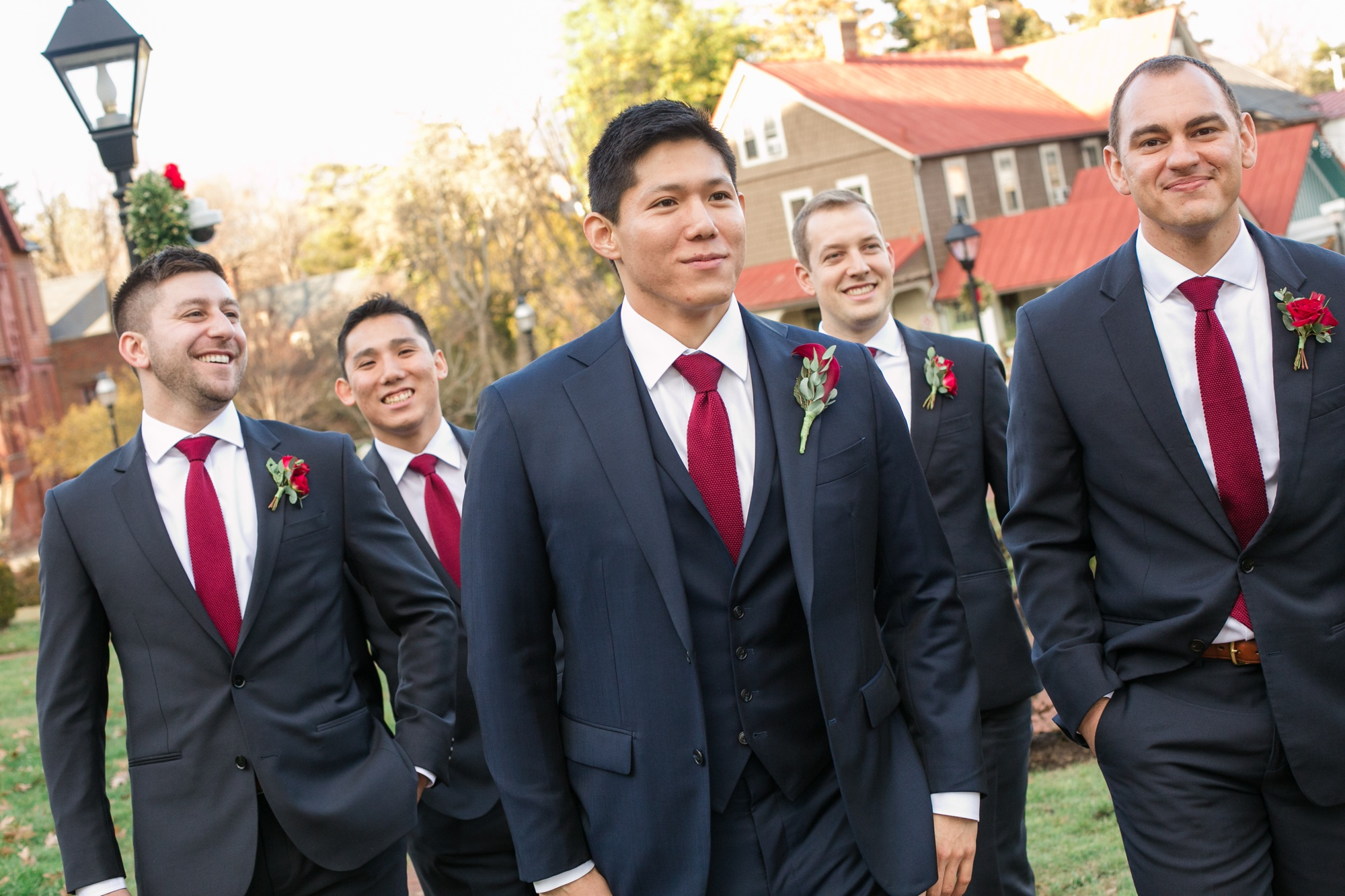 Maryland State House wedding groomsmen