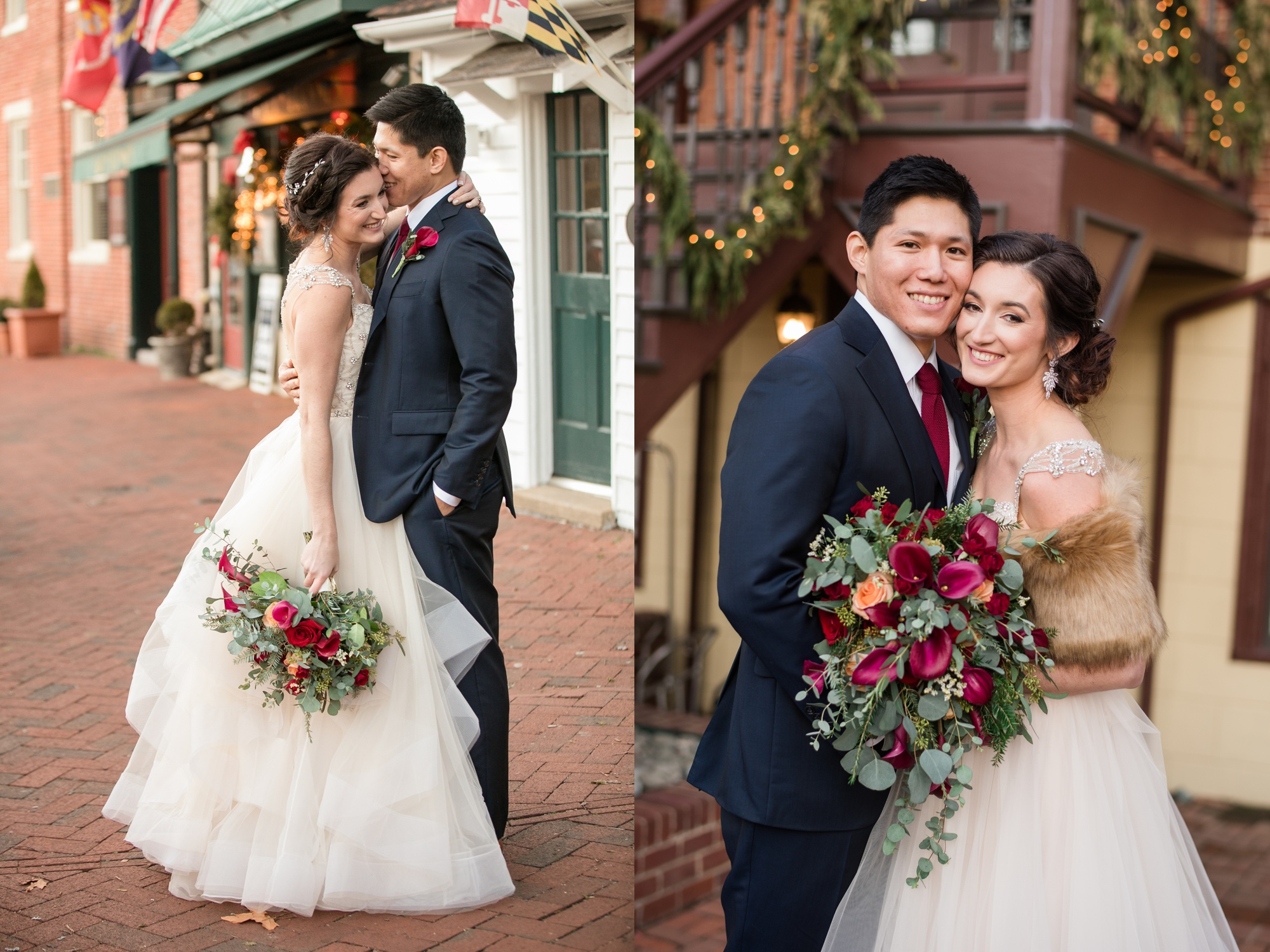 Historic Inns Governor Calvert House Wedding couple photos
