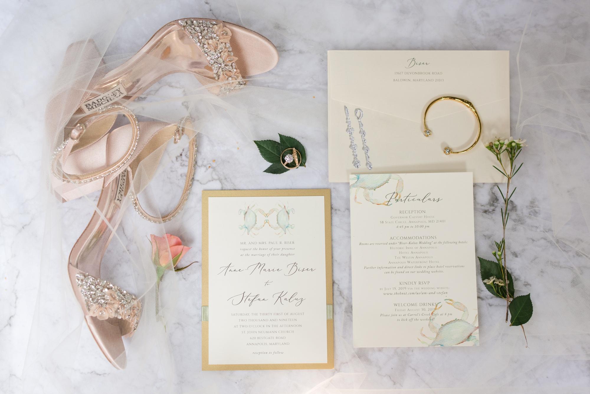 Governor Calvert House bridal details