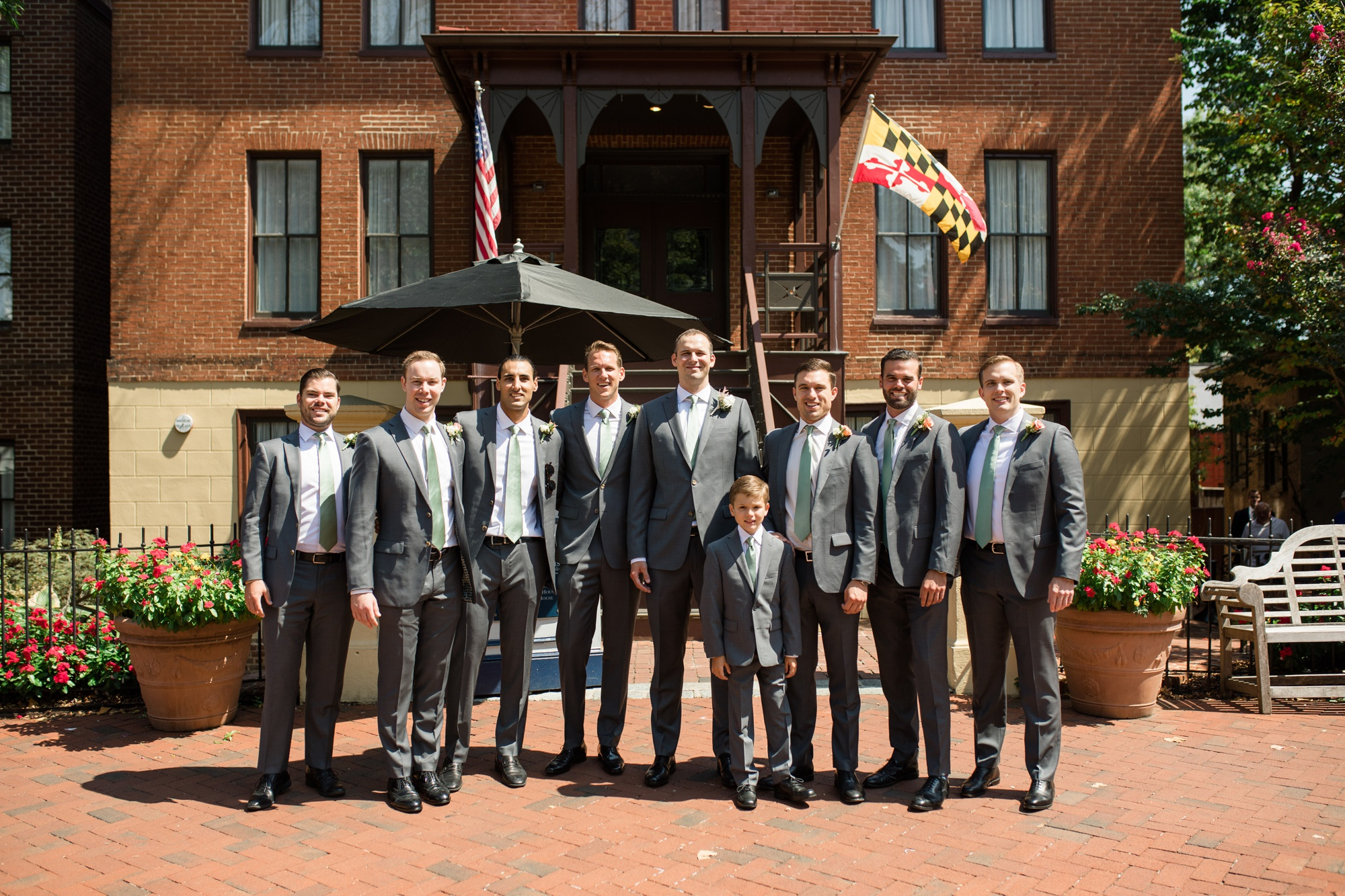 Governor Calvert House groom and groomsmen