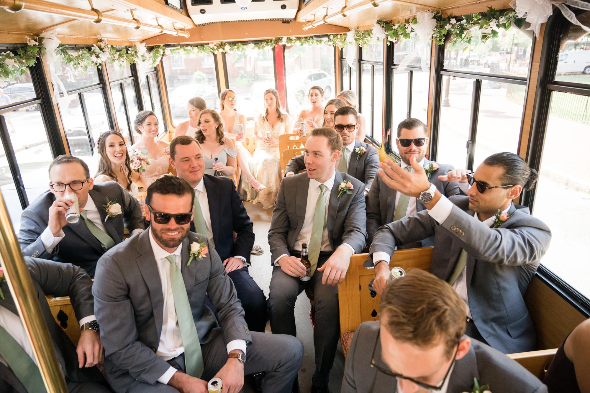 Annapolis wedding trolley transportation