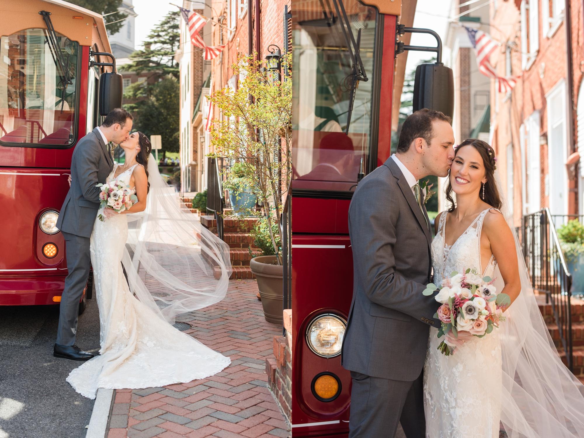 Annapolis wedding trolley