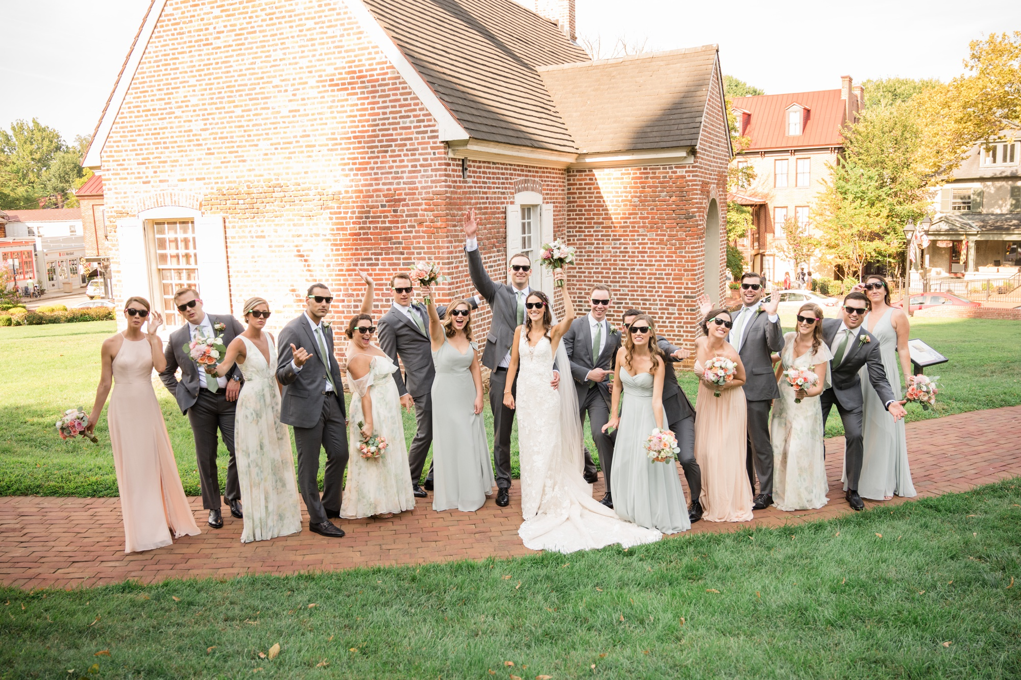 Historic Inns of Annapolis wedding party photos