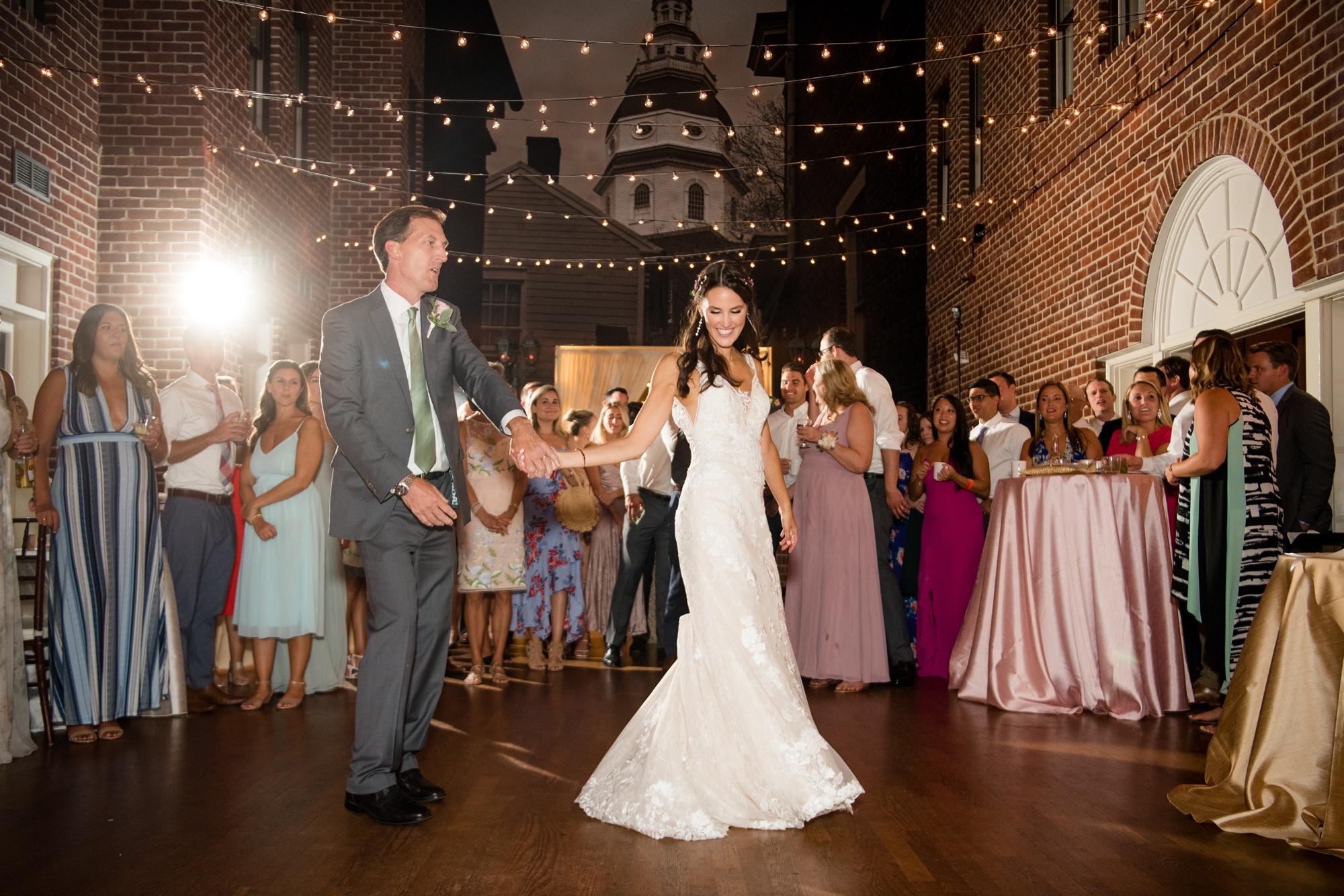 Governor Calvert House wedding reception father daughter dance