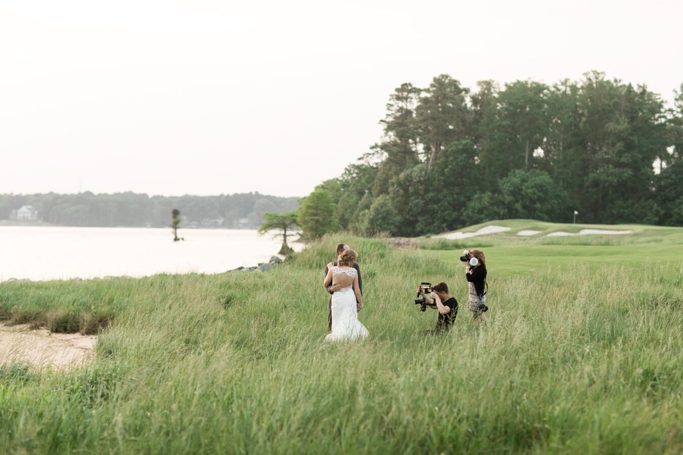 Baltimore Wedding Photographer in a field