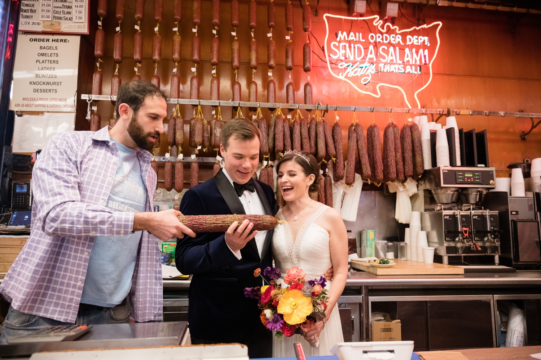 Katz's Deli NYC wedding photos