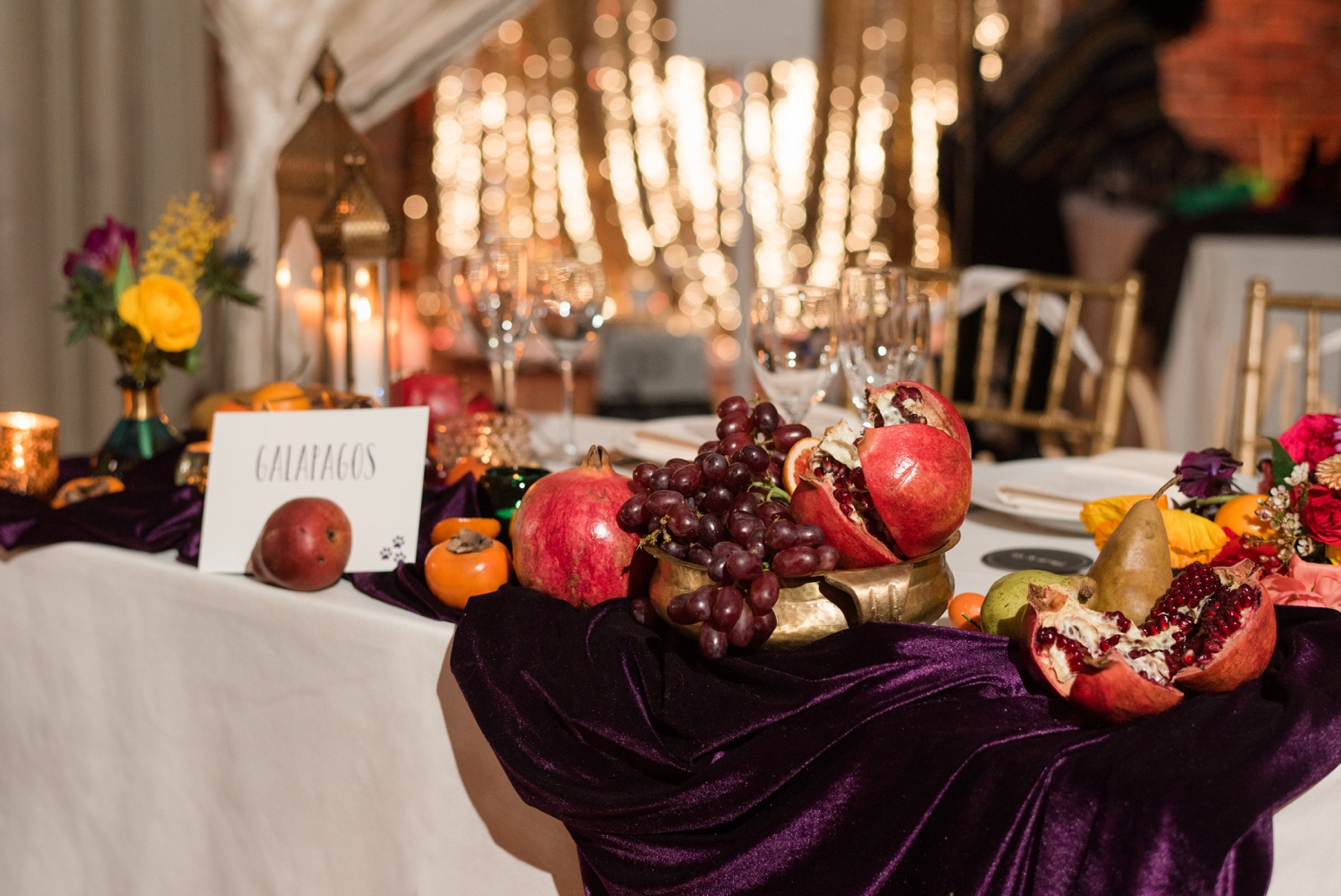 pomegranate wedding details Mimosa Floral Vanda High Events