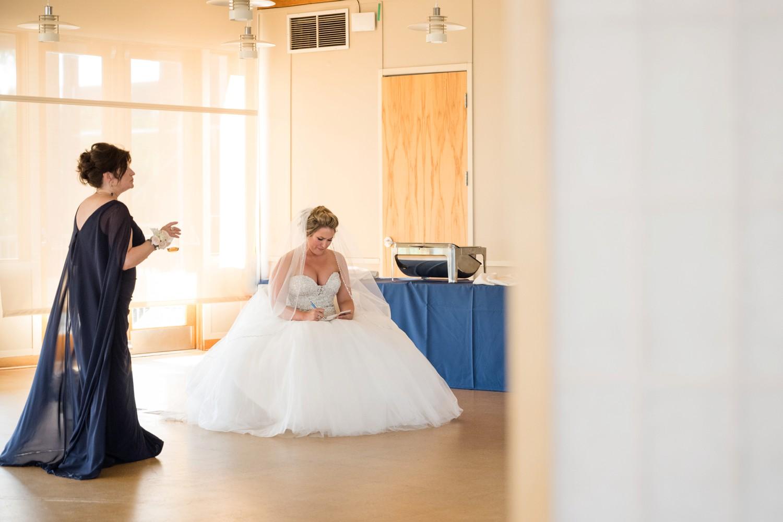 Chesapeake Bay Foundation bride getting ready