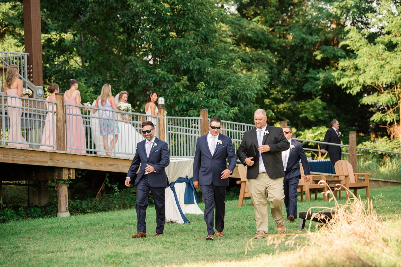 Chesapeake Bay Foundation outdoor wedding ceremony