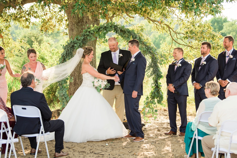 Chesapeake Bay Foundation summer beach wedding ceremony