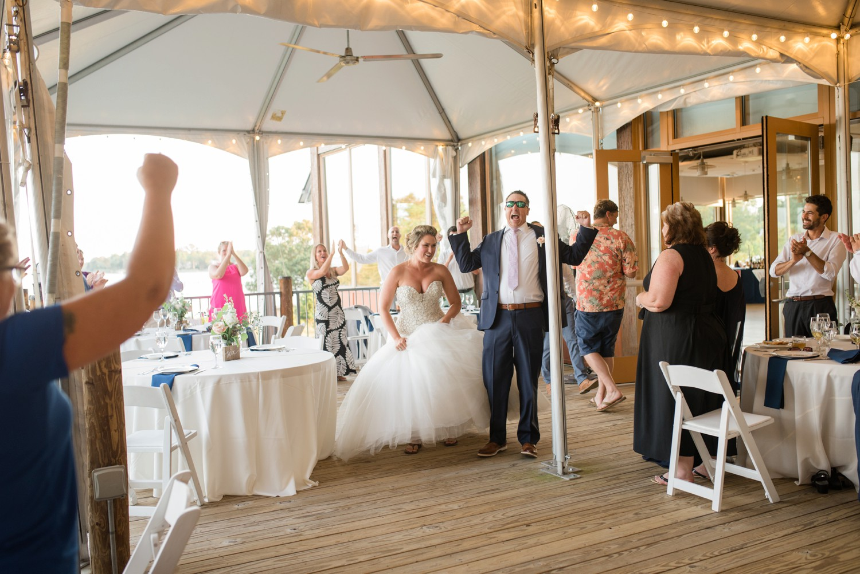 Chesapeake Bay Foundation summer tented wedding reception