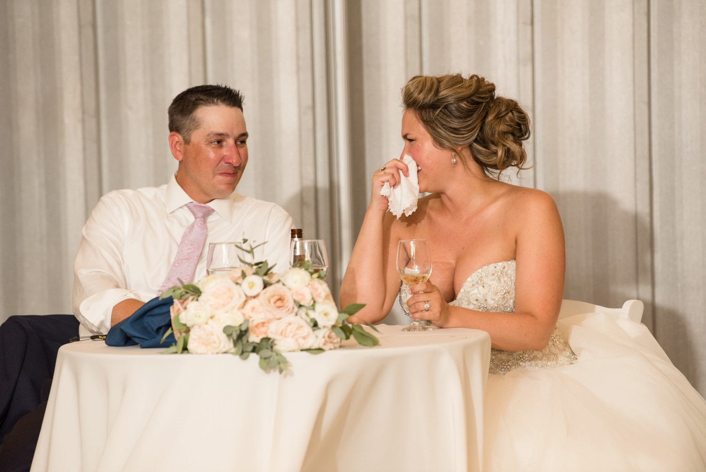 Chesapeake Bay Foundation summer tented wedding toasts