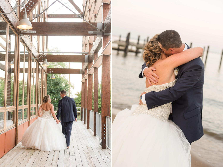 Chesapeake Bay Foundation newlyweds on the beach