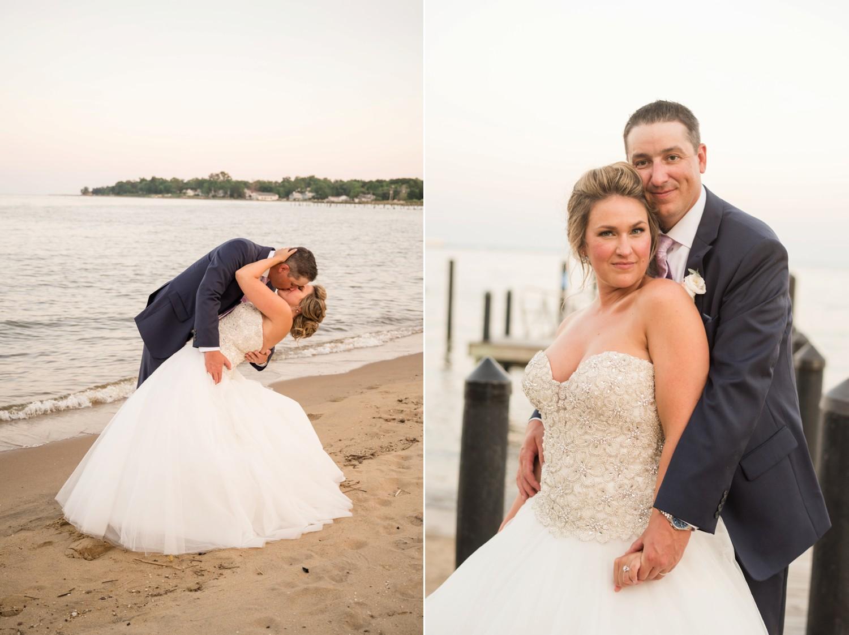 Annapolis beach wedding photos