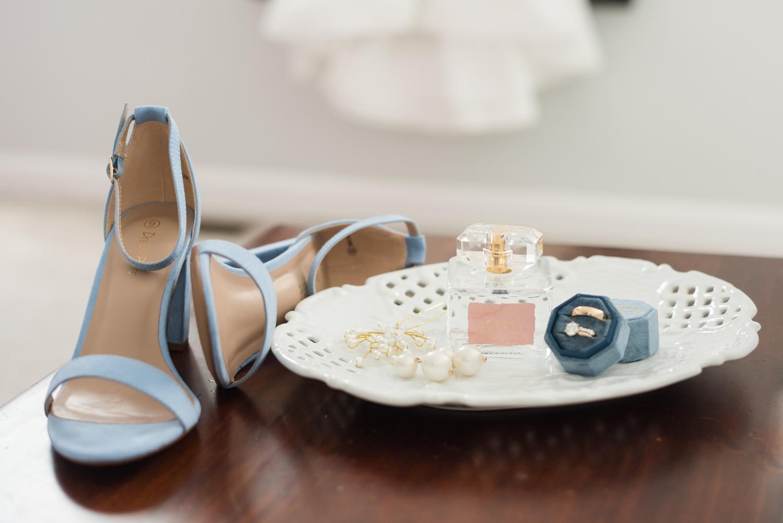 light blue bridal details