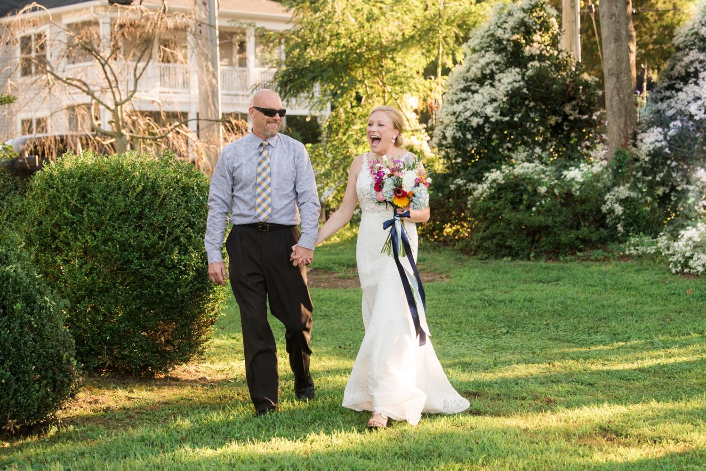 Southern Maryland Waterfront Micro Wedding in the couple's neighborhood