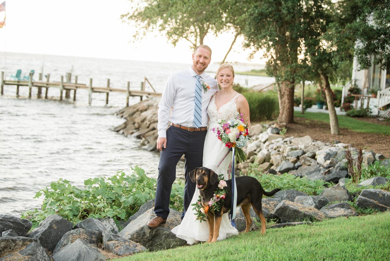 Waterfront Southern Maryland Micro Wedding