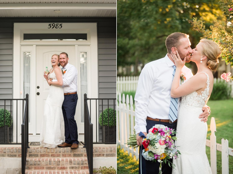 Backyard Micro wedding reception